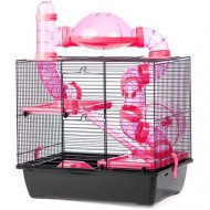 Hamsterkooi Daisy roze