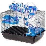 Hamsterkooi Galaxy Zwart/Blauw